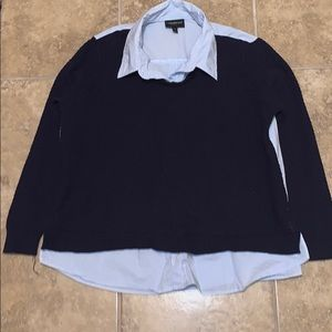 Lane Bryant Sweater Shirt Blue Size 14/16